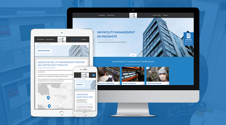 Création site internet Ouest Facilities