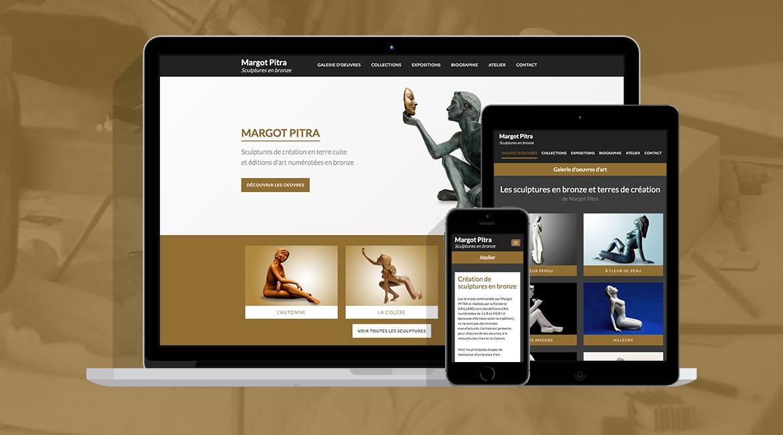 Site internet Margot Pitra