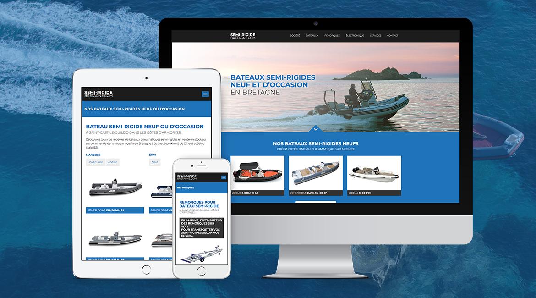 Création site internet bateaux bretagne